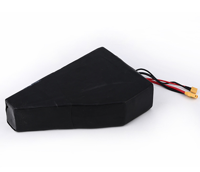 Rechargeable Triangle Shape Lithium Ion Ebike Battery 52V